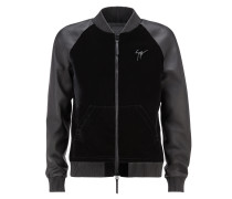 Men's dark blue bomber jacket LANCE