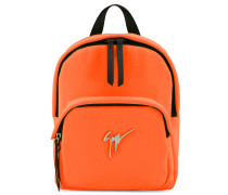 Orange fabric backpack with logo CECIL SIGNATURE