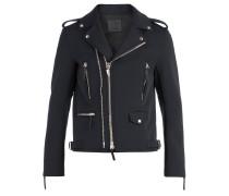 Black fabric motorcycle jacket KIAN