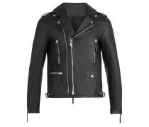 Black nappa motorcycle jacket KIAN
