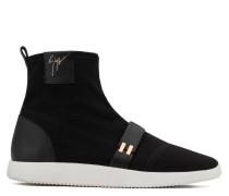 Black canvas high-top sneaker WARREN
