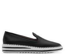 Black nappa leather loafer TIM