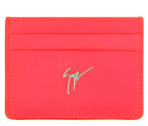 Fuchsia leather cardholder MIKY
