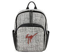 White and black calf suede backpack TIM