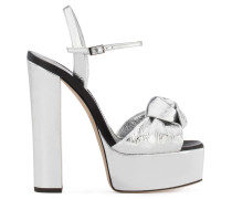 Silver patent leather clog BARBRA