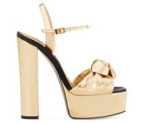 Gold patent leather clog BARBRA