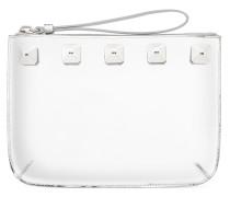 Silver leather clutch CALLISTO