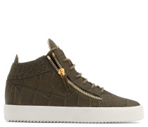 Crocodile-embossed mid-top sneaker KRISS