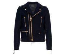 Blue velvet motorcycle jacket DENZEL