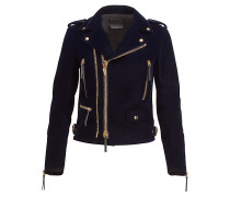 Velvet biker jacket ZIGGY