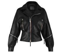 Women's black nappa leather jacket AUTUMN