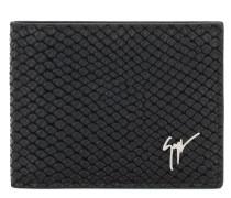 Black python-embossed calfskin leather wallet ALBERT