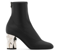 Black stretch leather boot with 'sculpted' heel GHIACCIO