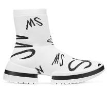 Der Sw-612 Sockenstiefel-Sneaker Mit Logo - White