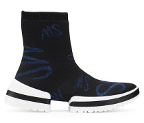 Der Sw-612 Sockenstiefel-Sneaker Mit Logo - Black