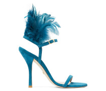 The Ricki Sandal - Peacock Aqua Blue
