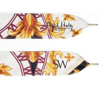 Die Sw X Aglit Italy Schnürsenkel - White And Black