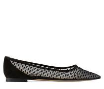 Der Tasha Flat Flache Schuh - Black