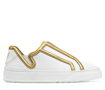 Der Mirel Sneaker - White  & Gold