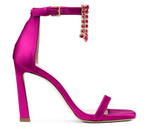 Die 100Fringesquarenudist Sandalen - Grape Fuchsia