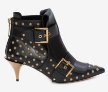 Stiefel mit zwei Schnallen und Hornabsatz
