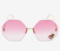 Runde Sonnenbrille mit Jewelled Beetle