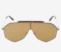 Sonnenbrille mit Piercing-Details