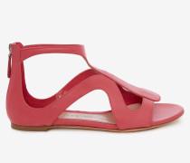 Flache Sandalen mit Käfig-Silhouette