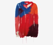 Pullover aus Mohair im Used-Look mit V-Ausschnitt