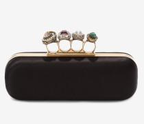 Schmuckverzierte Clutch mit vier Ringen