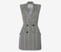 Zweireihiges Mini-Kleid mit Glencheck-Muster