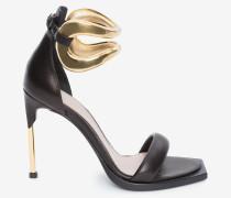 Sandalen mit breitem Reif und Stilettoabsatz