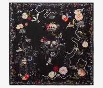 Foulard mit Skull und Gartenschätzen