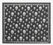 Klassisches Foulard aus Seidenchiffon mit Skulls