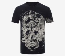 T-Shirt Etched Skull