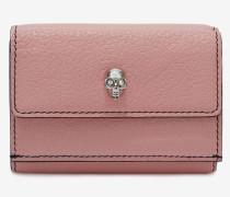 Klappbare Mini-Brieftasche mit Skull