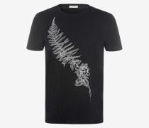 T-Shirt mit aufgesticktem, bereiftem Farn