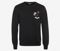 Sweatshirt mit Kristall-Aufnäher