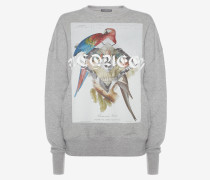 Skull-Sweatshirt mit Jungle-Collage