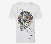 T-Shirt mit Skull und Käferschwarm