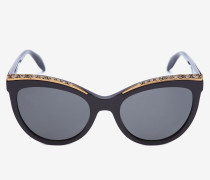 Cateye-Sonnenbrille mit Schmuckverzierung
