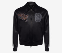 Bomberjacke mit Skull Map-Stickerei