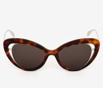 Cateye-Sonnenbrille mit offener Drahtkonstruktion