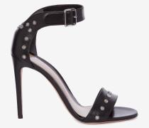 Herz-Sandalen mit gehämmerten Nieten