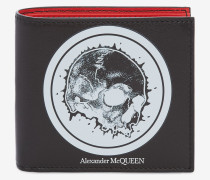 Brieftasche mit Skull-Badge