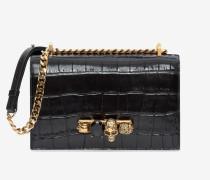 Schmuckverzierte Satchel Bag