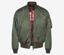 Bomberjacke Painted Rose mit Latz