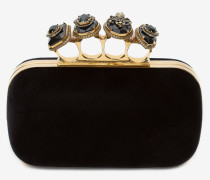 Jewelled Four Ring Box Clutch mit Spinne
