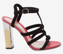 Sandalen mit skulpturalem Absatz