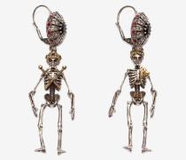 """Ohrringe mit """"Königin und König""""-Skelett"""